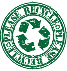 Please recycle stamp vector image