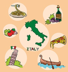 set of national profile of the italy vector image vector image