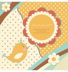 Vintage baby card vector image vector image