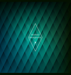 abstract rhombic green background for your designs vector image vector image