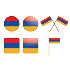 badges with flag of Armenia vector image vector image
