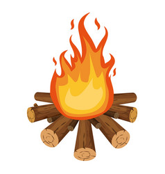 bonfire icon cartoon style vector image