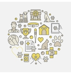 Cat and dog veterinary vector image vector image