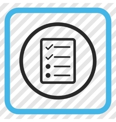 Checklist page icon in a frame vector