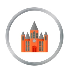 Church icon cartoon Single building icon from the vector image vector image