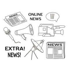 news set icon vector image