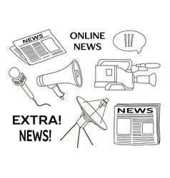 news set icon vector image vector image