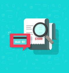 online payment audit analyzing vector image
