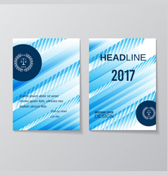 abstract blue brochure design template vector image