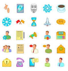 Business direction icons set cartoon style vector