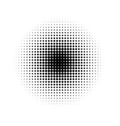 circle half tone gradient vector image