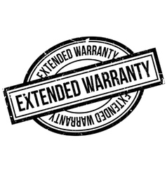 Extended Warranty rubber stamp vector image