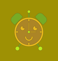 Flat icon on background kids toy alarm clock vector