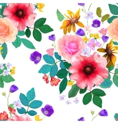Floral seamless hand drawn vector