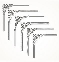 Flourishes ornate frame or corner design elements vector