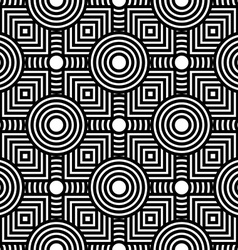 Seamless black and white geometric pattern simple vector image