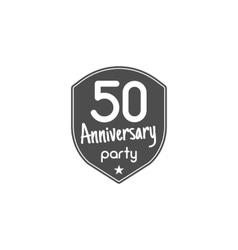 50 years anniversary badge sign and emblem vector image