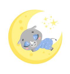 A cute cartoon rhinoceros vector