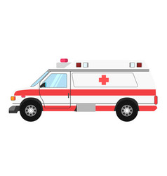 ambulance colorful mean of transportation isolated vector image