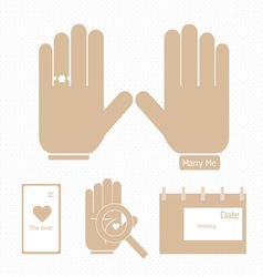 Arrangement with horoscope before wedding ceremony vector image