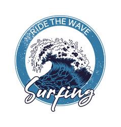 big ocean sea blue tsunami wave vector image