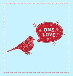 Birds one love vector image vector image