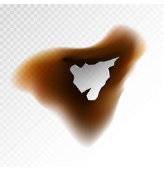 brown burnt blot vector image