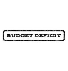 Budget deficit watermark stamp vector