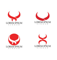 bull horn logo and symbols template icons app vector image
