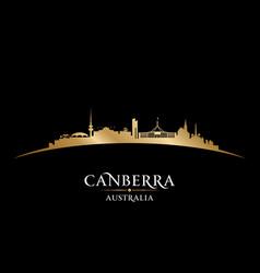 Canberra australia city silhouette black vector