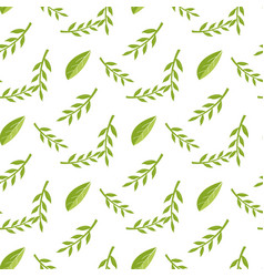 cartoon seamless stylized decorative leaf pattern vector image