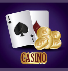 Casino concept design vector