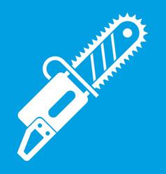Chainsaw icon white vector
