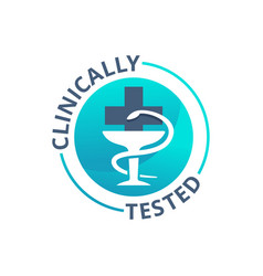 Clinically tested badge mediically proven stamp vector