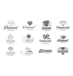 concept of diamond logo icon vector image