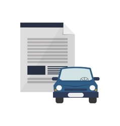 Contract and car icon vector