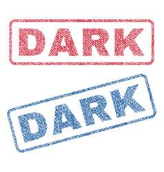 Dark textile stamps vector