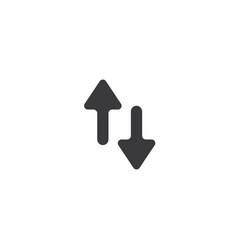 Data transfer icon isolated perfect pixel arrow vector