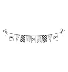 Decorations bunting flags for south korea vector