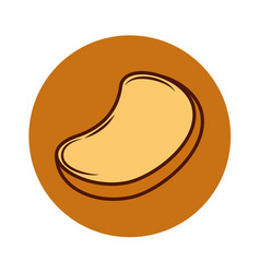 Delicious bread toast icon vector