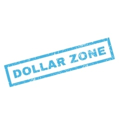 Dollar Zone Rubber Stamp vector