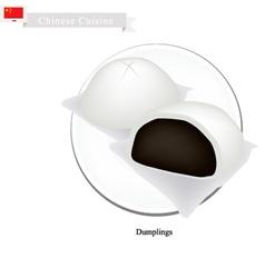 Dumpling Chinese Steamed Bun and Black Bean Stuff vector