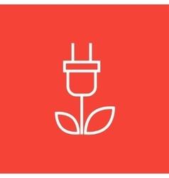 Eco green energy line icon vector
