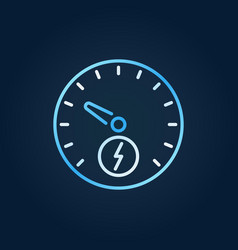 electric car speedometer colorful outline vector image