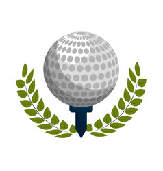 emblem play golf icon vector image