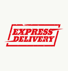 Express delivery sign design vector