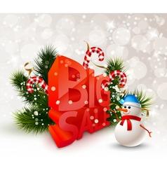 Festive Winter Big Sale Poster vector