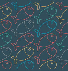 fish pattern marine animal texture ornament for vector image
