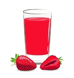 fresh strawberry juice vector image