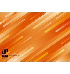 geometric elements orange color abstract vector image
